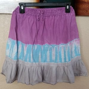 Girls Pur/Blu/Gry Tie Dye Skirt